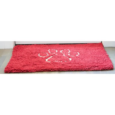Dirty Dog Mat Size: Small (30 W  x 20 D), Color: Maroon
