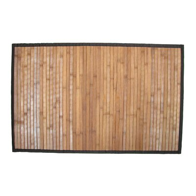 Bamboo Step Out Bath Rug Color: Brown