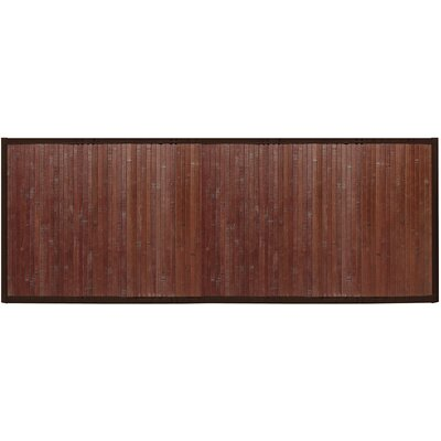 Bamboo Runner Bath Rug Color: Chocolate