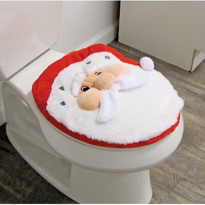 Santa Joyful Topper and Rug Toilet Seat Cover