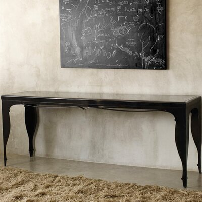 "Elm 79"" Extra Long Console Table Finish: Black"