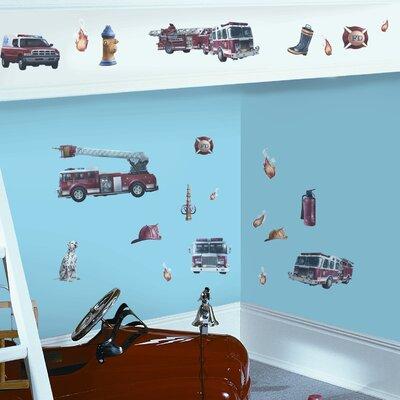 Studio Designs 22 Piece Fire Brigade Wall Decal RMK1125SCS