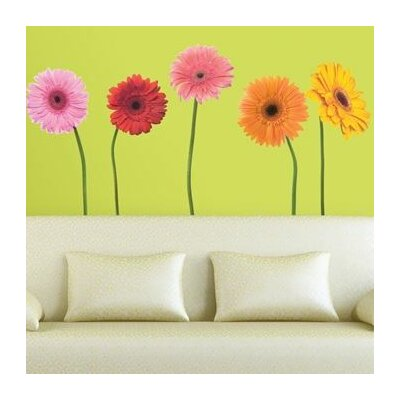 Room Mates Room Mates Deco 25 Piece Gerber Daisies Wall Decal RMK1279GM