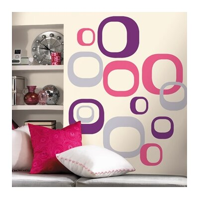 Room Mates Deco 30 Piece Modern Ovals Wall Decal RMK1343GM