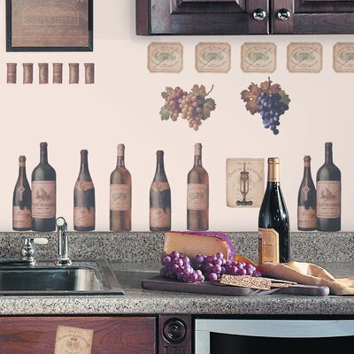 Room Mates Deco 56 Piece Wine Tasting Wall Decal RMK1257SCS