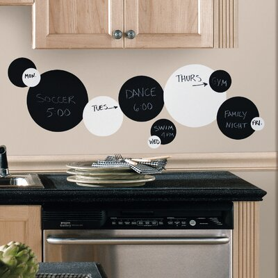 Room Mates Deco 31 Piece Dots Chalkboard Wall Decal RMK1311SCS
