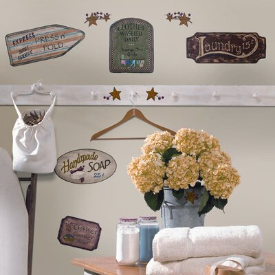 Room Mates Room Mates Deco 26 Piece Country Signs Wall Decal RMK1175SCS
