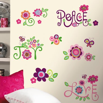Room Mates Deco Love Joy Peace Wall Decal RMK1649SCS
