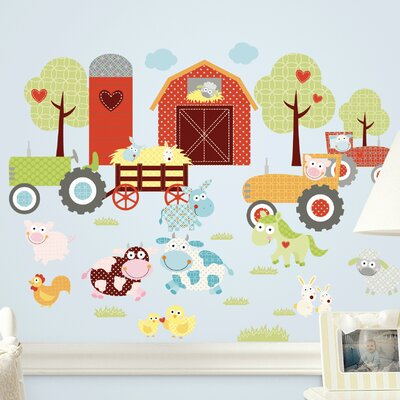 Room Mates Deco Happi Barnyard Wall Decal RMK1604SCS