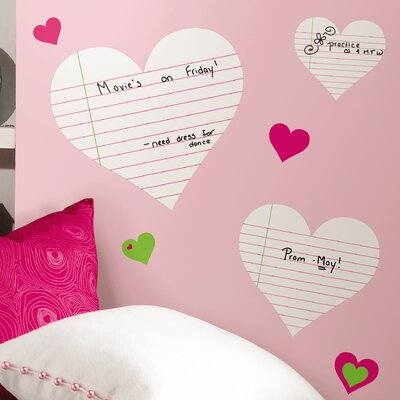Room Mates Room Mates Deco Heart Notepad Dry Erase Wall Decal RMK1609SCS