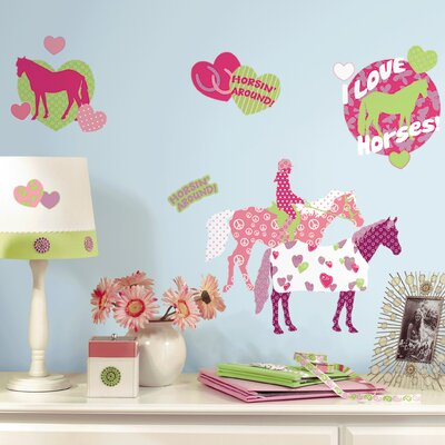 Room Mates Deco Horse Crazy Wall Decal RMK1663SCS