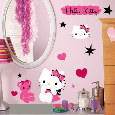 Room Mates Popular Characters Hello Kitty Couture Wall Decal RMK2015SCS