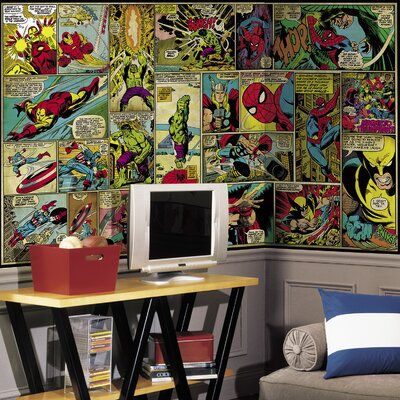 Walt Disney Kids II Marvel Classic Comic Wall Mural JL1290M