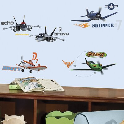 Room Mates Popular Characters 43 Piece Planes Wall Decal RMK2140SCS