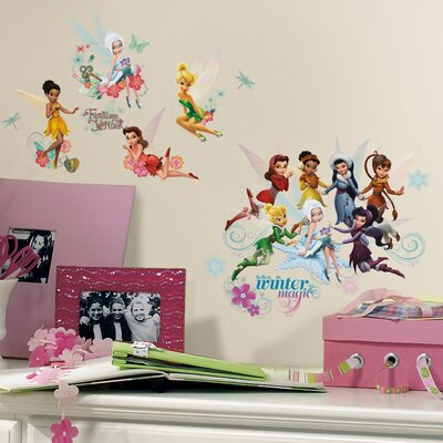 Peel and Stick 54 Piece Disney Fairies Secret of The Wings Wall Decal RMK2058SCS