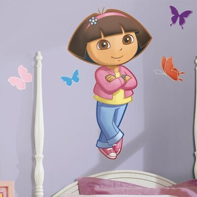 Room Mates Favorite Characters 9 Piece Nickelodeon Dora The Explorer Giant Wall Decal RMK1400GM