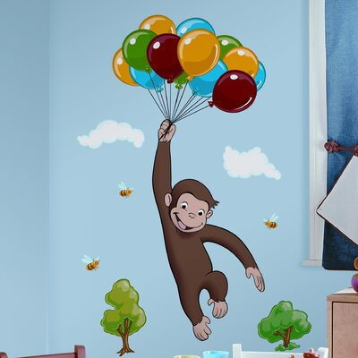 Favorite Characters 10 Piece Curious George Giant Wall Decal RMK1082GM