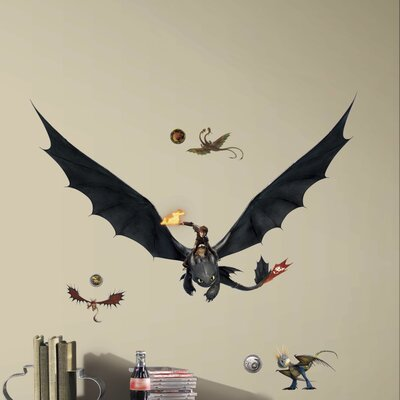 How to Train Your Dragon 2 Hiccup and Toothless Giant Wall Decal RMK2509GM