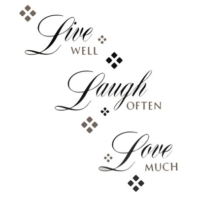 "Live Laugh Love"" 22 Piece Wall Decal Set RMK1396SCS"