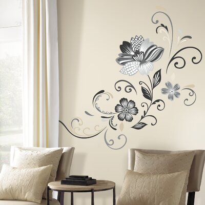 Room Mates Deco 22 Piece Flower Scroll Wall Decal RMK2783GM
