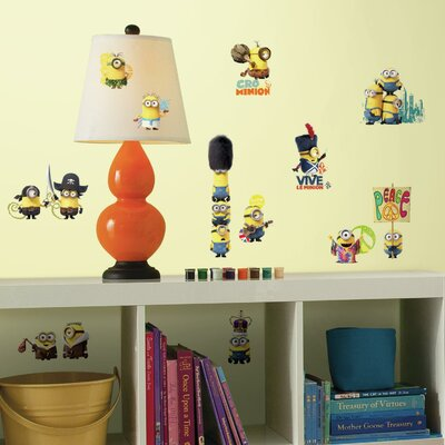 Room Mates Popular Characters Minions The Movie Wall Decal RMK3000SCS