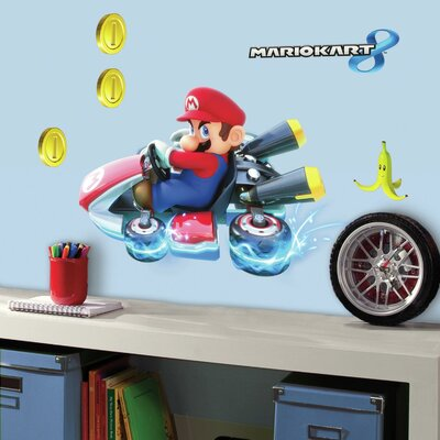Room Mates Popular Characters Mario Kart 8 Wall Decal RMK3001GM
