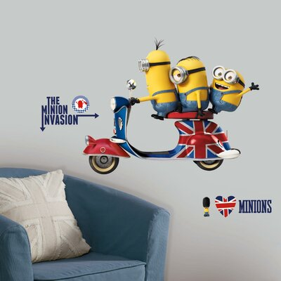 Room Mates Popular Characters Minions The Movie Wall Decal RMK3002GM