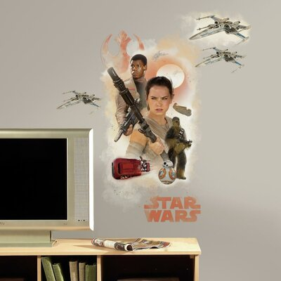 Star Wars Ep VII Hero Burst P and S Giant Wall Decal RMK3013GM