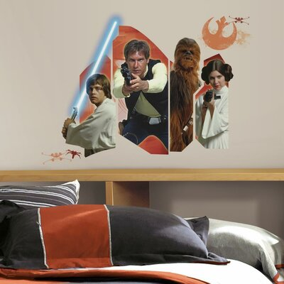 Room Mates Star Wars Ep VII Classic Burst P and S Wall Decal RMK3014GM
