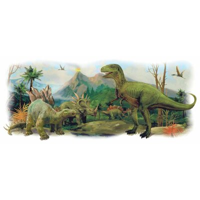 Dinosaurs Giant Scene Peel and Stick Wall Decals RMK3053TB