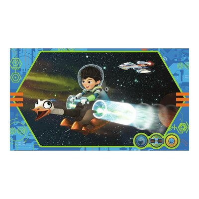 Miles From Tomorrowland Chair Rail Prepasted Wall Mural JL1367M