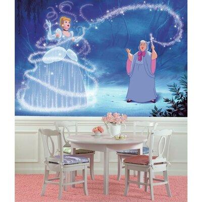 Room Mates Disney Princess Cinderella Magic Chair Rail Prepasted Wall Mural JL1375M