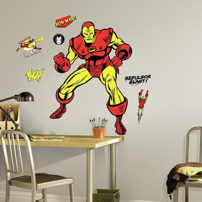 Marvel Enterprises Classic Iron Man Comic Peel and Stick Giant Wall Decal RMK3252GM