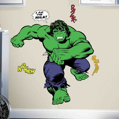 Marvel Enterprises Classic Hulk Comic Peel and Stick Giant Wall Decal RMK3242GM