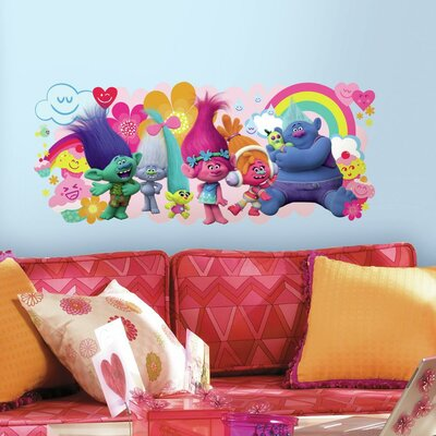 Trolls Movie Peel and Stick Giant Wall Decal RMK3171GM