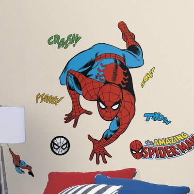 Room Mates Marvel Enterprises Classic Spider-Man Comic Peel and Stick Wall Decal RMK3253GM