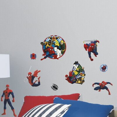 Marvel Enterprises Spider-Man Ultimate and Team Hero Peel and Stick Wall Decal RMK3255SCS