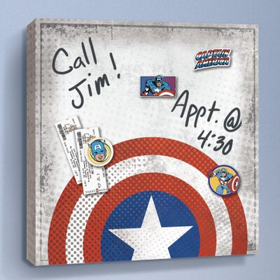 Captain America Shield Graphic Art on Wrapped Canvas CNV3284SQ