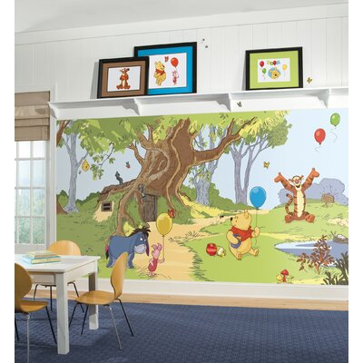 Room Mates XL Murals Pooh and Friends Chair Rail Wall Decal