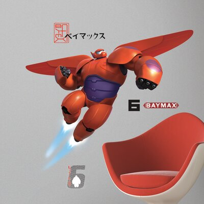 Room Mates Popular Characters Big Hero 6 Baymax Wall Decal RMK2761GM