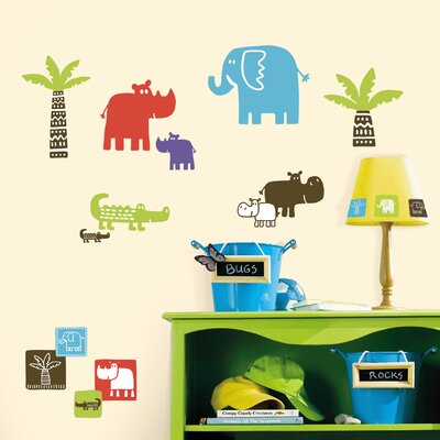 Room Mates Deco Safari Blocks Wall Decal RMK1628SCS