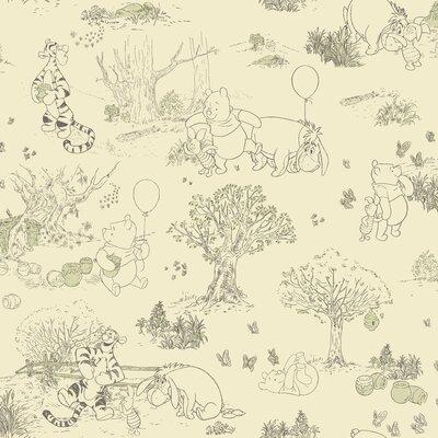 "Room Mates Room Mates Deco Winnie The Pooh Toile 33' x 20.5""  Roll Wallpaper DK5843"