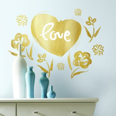 Montserrat Love Heart Peel and Stick Giant Wall Decal