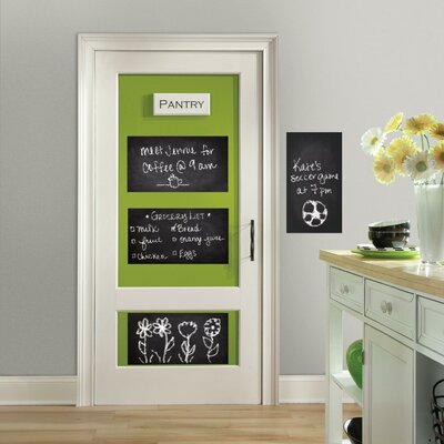 McLiverty Peel and Stick Giant Whiteboard/Chalkboard Wall Decal GRCS1594 43883000