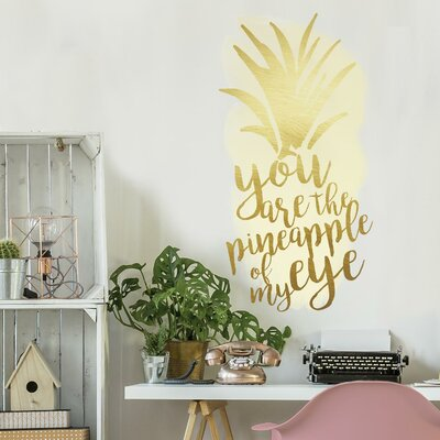 Shisler Pineapple of My Eye Peel and Stick Wall Decal