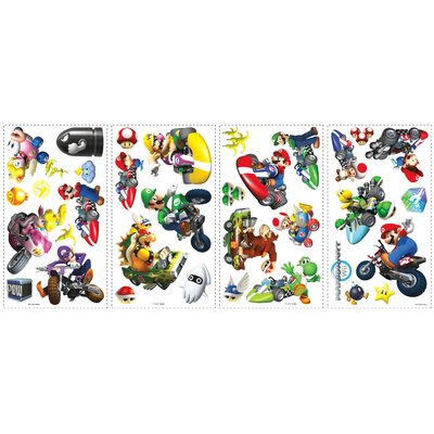 Popular Characters Mario Kart Wall Decal 771SCS