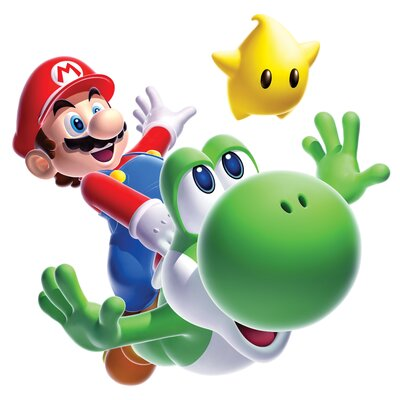 Room Mates Popular Characters Mario Yoshi Giant Wall Decal 883SLM