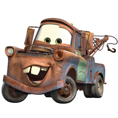 Room Mates Popular Characters Cars Mater Giant Wall Decal RMK1519GM