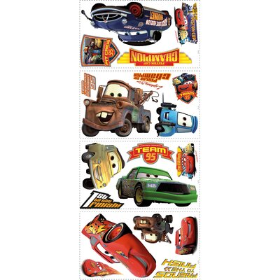 19 Piece Disney Pixar Cars Piston Cup Champs Wall Decal Set RMK1520SCS
