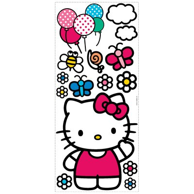 Popular Characters 15 Piece The World of Hello Kitty Giant Wall Decal RMK1679GM